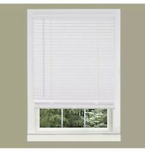 Faux Wood Blinds White 35x74