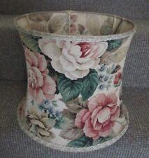Vintage original 1950`s fabric floral roses lampshade
