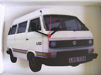 White T25 Design Classic VW Camper Van Wall Clock.New & Boxed