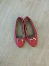 AEROSOLES Women's Size 7  Red  Slip On Ballet Flats Shoes