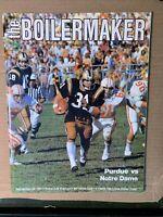 1977 Purdue Boilermakers vs Notre Dame Fighting Irish Football Program VG/EX