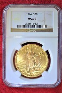 1926-P Saint-Gaudens $20 NGC MS63 Beautiful Strike