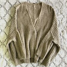 FREE PEOPLE Womens Oversized Chunky Knit Sweater Cardigan Size Medium
