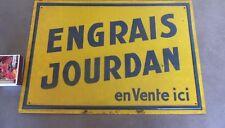 Ancienne plaque en tôle publicitaire ENGRAIS JOURDAN EN VENTE ICI,