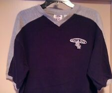 White Sox golf V-Neck Game shirt Mlb Sz-L Embroidered logo!