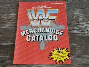WWF SPRING/SUMMER 1989 MERCHANDISE CATALOG Official Wrestling Merch Hulkamania+