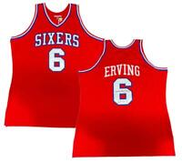 "JULIUS ERVING Autographed ""HOF '93"" 76ers Authentic M&N Jersey FANATICS"