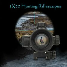 1X30 Hunting Tactical Reflex Red Dot Sight Scope Riflescope Optic Bubble Level
