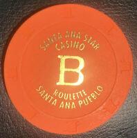 ROULETTE CASINO CHIP B - Santa Ana Star Casino - Santa Ana Pueblo - Paulson H&C