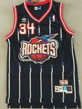 #34 Hakeem Olajuwon Houston Rockets Swingman Throwback Jersey Blue Size S-XXL