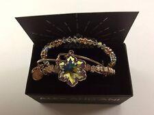 Alex and Ani Crystal Snowflake Set of 3 Bangle Bracelet Shiny Rose NWTBC
