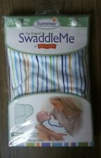 Baby Swaddle Me by Summer, blue stripe design 7-14 lbs newborn 0-4 months