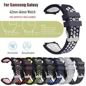 Sport Silikon Uhrenarmband Armband 20 / 22mm für Samsung Galaxy Watch 42 / 46mm