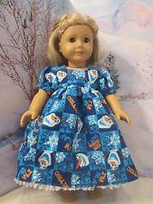 "homemade 18"" american girl/madame alexan frozen olaf nightgown doll clothes"