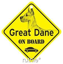Great Dane On Board Dog Window Sign Made in USA