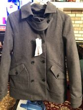 LACOSTE Women Jacket Size 38 US 6 Wool Cotton Made In Romania NWT $525 Gray Auth