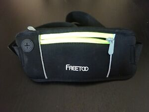 **FREETOO LEIGHTWEIGHT RUNNING BELT WITH 2 ZIPPED POCKETS**