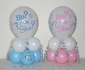 2 PACK BABY SHOWER  BALLOON TABLE DECORATION DISPLAY KIT - GENDER REVEAL PARTY
