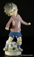 "Lladro ""Sports Billy Football"" #5135 - Boy Soccer Player -$620 Value - Mib"
