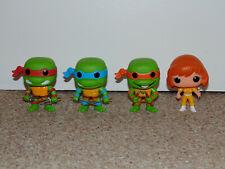 Funko Pop! Vinyl TMNT Ninja Turtles Lot of 4 Figures April O'Neil Raphael More