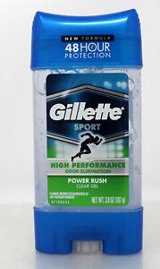 Gillette Antperspirant Deodorant Clear Gel Power Rush 3.8 Ounce