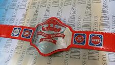 NWA Television Champion Belt Replica Adult Size Metal Plates & Carrying Bag