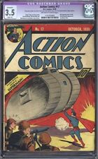 Action Comics #17 (1939) CGC 3.5 VG- (Slight A) WWII Superman Cover