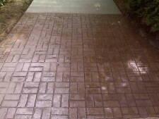 6 Worn Brick Basketweave Concrete Cement Stamps Mats NR