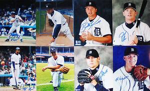-Detroit Tigers- Autograph/Signed/Auto Baseball Stars 8x10 Photo Lot w/LOA