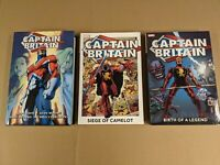 CAPTAIN BRITAIN Omnibus by Alan Moore + 2 Oversized Hardcovers OOP Lot