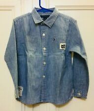 Pre-Owned Tommy Hilfiger Boys Denim Shirt Size 4T.