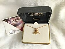 """NEW ~STAMPER 10K BLACK HILLS GOLD *DRAGONFLY* PENDANT GF CHAIN NECKLACE 18""""~USA!"""