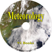 92 RARE Meteorology Books on DVD Weather How to Temperature Wind Storms Handbook