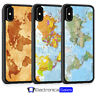 World Map Earth Globe Vintage Phone Case For iPhone X XS XR 8 7 6 6S 5 5S SE