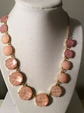 $148 Kate  Spade Pink  Stone  Necklace Smell the Roses 12k Gold #152K