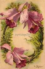 """Vintage Victorian Klein Floral Letter Initial """"O""""  2"""" x 3"""" Fridge Magnet"""