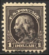 U.S. #460 Used - $1.00 Violet Black, P10 ($140)
