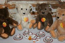 Steiff 1982 Teddy Bear Porcelain Tea Party Limited Edition 0204/16 w/Certificate