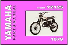 YAMAHA Parts Manual YZ125 YZ125F 1979 VMX Replacement Spares Catalog List