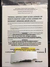 MICROSOFT WINDOWS SERVER 2012 R2 Terminal Services/Remote Desktop CALs: x50 User