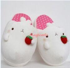 Molang Rabbit Plush Slipper Indoor Shoes Pink- US 5~7