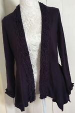Per Una Purple Top / Handkerchief Hem Cardigan Size 12 (Marks & Spencer)