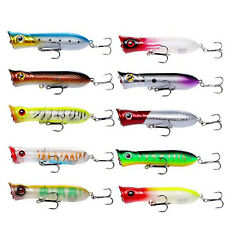 10PCS Topwater Fishing Lures Poppers 3.15in/11.2g Crankbaits Floating Bass Pike