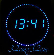 Led Numérique Horloge Murale avec Datum-&temperaturanzeige Silencieux 32x32x3cm