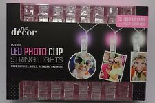 16 Light Up Hanging Photo Artwork Clips With Multi Color Led String Light #151