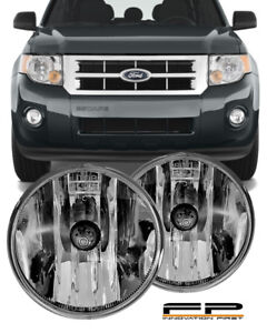 07 08 09 10 11 12 FORD ESCAPE Clear Replacement Fog Light Housing Assembly Pair