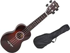 "21"" Soprano Ukulele Musical Instrument Fingerboard &Bridge 12 Frets 4 String+Bag"