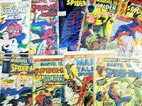 LOT  of 9 Marvel Tales, Marvel Team-Uo (Spider-Man)  High Grade  (1973 - 1992)