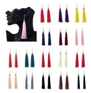 Pair Long Fashion Tassel Dangle Drop Earrings Woman Bohemian Vintage Jewellery