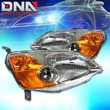 FOR HONDA CIVIC 2001-2003 SEDAN OEM REPLACEMENT CHROME/AMBER HEADLIGHTS LAMP